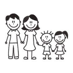 Billedresultat for familia dibujo infantil Drawing Lessons For Kids, Easy Drawings For Kids, Art For Kids, Machine Silhouette Portrait, Kindergarten Drawing, Doodle People, Stick Figure Drawing, Stick Figure Family, Family Drawing