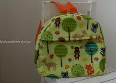 Kindergartenrucksack+Kleinkind+Rucksack++von+birdsandbees-design++auf+DaWanda.com