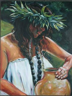 "Kathy Ostman-Magnusen: ""Ipu"" from the Hawaiian Series"