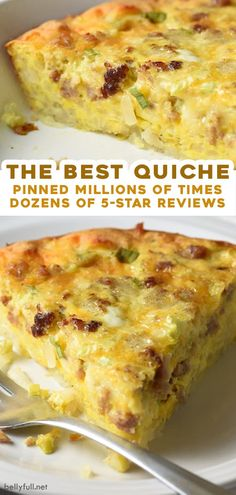This Hash Brown Crusted Quiche with sausage is crazy flavorful, super easy, and happens to be gluten free. The shredded potatoes create a crispy crust that makes this recipe hearty and filling. Enjoy it for breakfast, brunch, or even dinner! Breakfast Dishes, Breakfast Time, Sausage Breakfast, Easy Breakfast Quiche Recipe, Hash Brown Quiche Recipe, Breakfast Recipes With Eggs, Hash Brown Recipes, Yummy Quiche, Gluten Free Breakfast Casserole