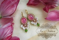 """Bead embroidery. // ♡ THESE ARE BEAUTIFUL! DEFINITELY A """"MUST MAKE""""!!! ♥A"""