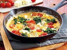 Unser beliebtes Rezept für Flotte Spinatfrittata mit Feta und mehr als 55.000 weitere kostenlose Rezepte auf LECKER.de.