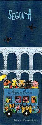 Marcapáginas de viaje por Segovia Kids Rugs, Paintings, Home Decor, Notebooks, Voyage, Cities, Dots, Kid Friendly Rugs, Painting Art