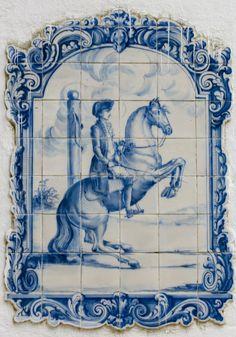 Quinta do Brejo – Charlotte Wittbom Classical Dressage Tile Murals, Mural Art, Tile Art, Tile Painting, Portuguese Culture, Portuguese Tiles, Tile Panels, Blue And White China, Horse Art