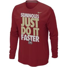 Nike Florida State Seminoles (FSU) 2013 Orange Bowl Bound Just Do It Long Sleeve T-Shirt - Garnet  #Fanatics