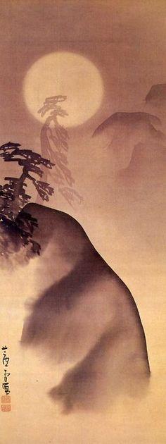 """Landscape in the Moonlight"" Nagasawa Rosetsu (1755-1799)"