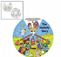 12 Colour Your Own Nativity Wheels, Christmas Craft Projects, Craft Ideas for 7 to 12 Kids, childrens crafts, children's craft supplies