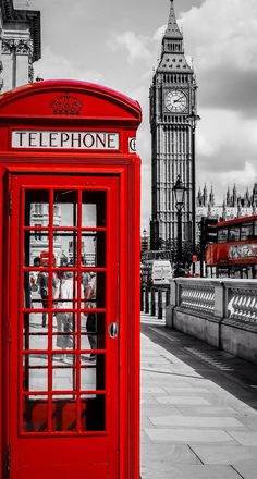 Laeacco Red Telephone Booth Big Ben London Street Scenic Photography Backgrounds Vinyl Custom Camera Backdrops For Photo Studio London Calling, City Of London, London Icons, London Style, London Bus, Places Around The World, Oh The Places You'll Go, Places To Travel, Big Ben