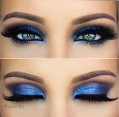 Royal Blue breathtaking by ✨@LindaSteph✨ with Flutter® Lashes in #Lori from our #Xtreme Collection!