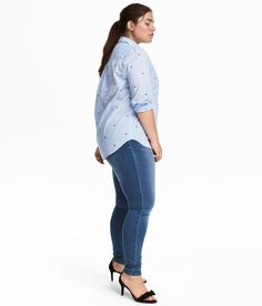 Check this out! Treggings in superstretch twill with an elasticized waistband, mock front pockets, and regular back pockets. - Visit hm.com to see more.