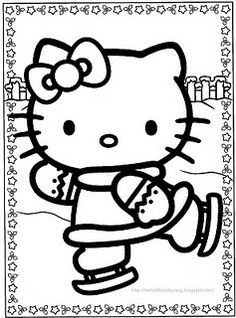 1000 images about kleurplaten on pinterest hello kitty for Hello kitty fall coloring pages