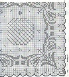 Centrini a uncinetto: schemi e modelli - Centrino decorato