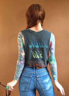 The Doors Light My Fire Muscle Tee Shirt Daydreamer