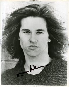 Val Kilmer, from when he was younger, appealed to my taste in men - yum! Looks a bit like my idol Jim Moorison, which is why he played him in the movie, of course.