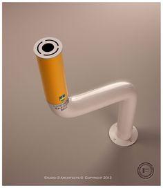 Pepe - Outdoor ashtray by Igor Vasilevski, via Behance