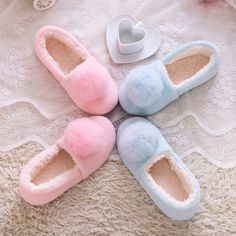 Large real rabbit fur ball home autumn and winter shoes, floor slippers, princess style home waterproof shoes, free shipping #>=#>=#>=#>=#> Click on the pin to check out discount price, color, size, shipping, etc. Save and like it!