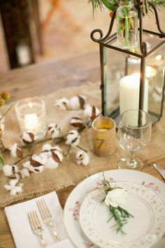 Wedding Ideas. Table decore. Cotton! Photography By / harwellphotography.com, Event Planning By / thebelleoftheball.com
