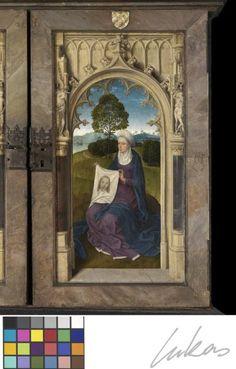 HANS. MEMLING / Triptiek van Jan Floreins (1479) / Verso Rechterluik Heilige Veronica / Brugge. Memlingmuseum-Sint-Janshospitaal
