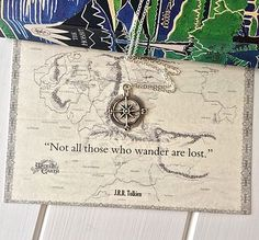 Lord Of The Rings Compass Necklace- I know a small person who want one!!