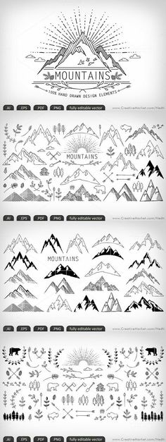 Book. mapping. draw mountains!