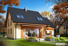 Projekt domu Economic wersja A - Home Building Design, Building A House, Dream House Plans, My Dream Home, 2nd Floor, House Rooms, Home Fashion, Habitats, Beautiful Homes