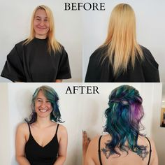 Great colorful transformation done by our master stylist Coni! Give us a call at 250-762-3000 to book an appointment with her