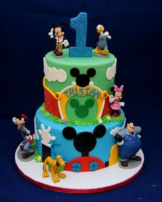 Mickey Mouse Club & Mickey Park themed cake 1st birthday in Astoria Park