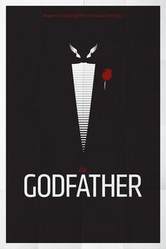 The Godfather (1972) ~ Minimal Movie Poster by Pedro Vidotto #amusementphile