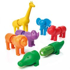 SmartMax My First Safari Animals and thousands more of the very best toys at Fat Brain Toys. Basic matching fascinates the imagination as kids match the colors to turn each magnetic bar into a different safari animal. Toddler Toys, Baby Toys, Kids Toys, Safari Animals, Baby Animals, Mulberry Bush, Wooden Playset, Toy Store, Rubber Duck