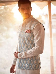 The most beautiful lehengas + its prices Anita Dongre is part of Wedding dress men - Always love Anita Dongre lehengas Wondering what it costs Check out her latest collection of bridal wear, and find out the prices right here on Mens Indian Wear, Mens Ethnic Wear, Indian Men Fashion, Men's Fashion, Groom Fashion, Mens Wedding Wear Indian, Fashion Dresses, Sherwani For Men Wedding, Wedding Dresses Men Indian