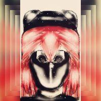 My original oc girl with mask by sofiavalvi