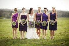 Might be entertaining same color family for the bridesmaid dresses but different styles!