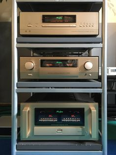 Accuphase DP-700 SACD Player, C-3850 Preamplifier and A-70 stereo Class A power amplifier.