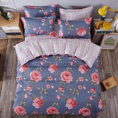 Wholesale High Quality Duvet Cover pcs Twin Full Queen Size Set of Bed Linen Luxury Bedding Set Floral Bed Linen Bedclothes Cheap Bedding Sets, Cheap Bed Sheets, Luxury Bedding Sets, Affordable Bedding, Bed Sheets Online, Bedding Sets Online, Bed Linen Inspiration, Cheap Bed Linen, Bed Linen Australia
