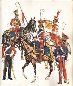 Lancieri Rossi olandesi della guardia imperiale francese