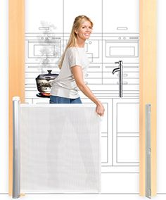 The baby safety gates Kiddyguard® Assure™, Accent™ and Avant™ are retractable children gates, which are easy to install and to use.
