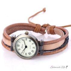 Armbanduhr vintage Unisex caramel braun