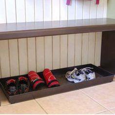 What about a boot tray for everyday shoes under an open bench? Would be great for winter boots...everyday?