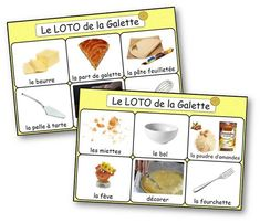 Loto de la recette de la galette des rois French Class, French Lessons, French Celebrations, Galette Des Rois Recipe, French Practice, Montessori Education, Petite Section, French Food, Learn French
