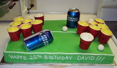 Best Beerpong cake idea ever!!