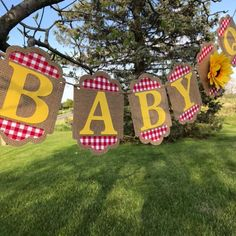 Bbq Decorations, Gender Reveal Party Decorations, Baby Shower Decorations For Boys, Baby Q Shower, Baby Shower Themes, Shower Ideas, Couples Baby Showers, Elephant Baby Showers, Red Gingham