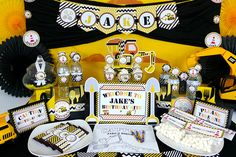 Awesome Construction Birthday Party!  See more party ideas at CatchMyParty.com!  #boyparty