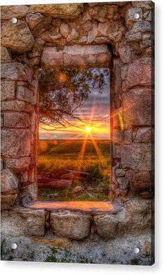 Through The Bedroom Window Acrylic Print by Thomas Zimmerman