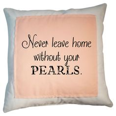 Cotton pillow with a typographic motif and feather-down fill.       Product: PillowConstruction Material: Cotton ...