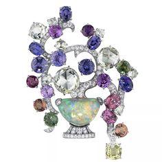 Cartier Brooch--almost tutti frutti? Cartier Jewelry, Opal Jewelry, High Jewelry, Geek Jewelry, Jewelry Box, Jewlery, Bijoux Art Deco, Bonsai, Jewelry Collection