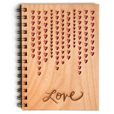 Love Journal Raining Hearts by Cardtorial on Etsy...good gift idea