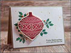 """Karte """"Frohe Weihnachten"""" mit Stampin' Up! und Ranger   fraeulein-nebel.org"""