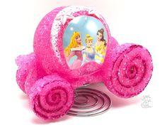 Disney Princess Horse Carriage Pink Lamp Light Nightlight Belle Cinderlla New