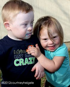 Pudge & Biggs- the story of two adopted babies with Down Syndrome. I admire these people.
