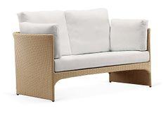 Exotica Sofa, Natural/White on OneKingsLane.com